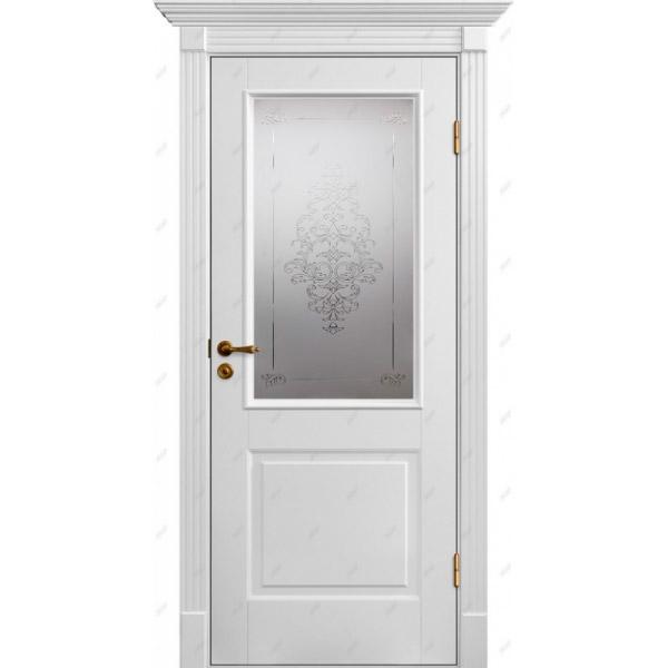 Межкомнатная дверь Палацио 4 (витраж Лувр)