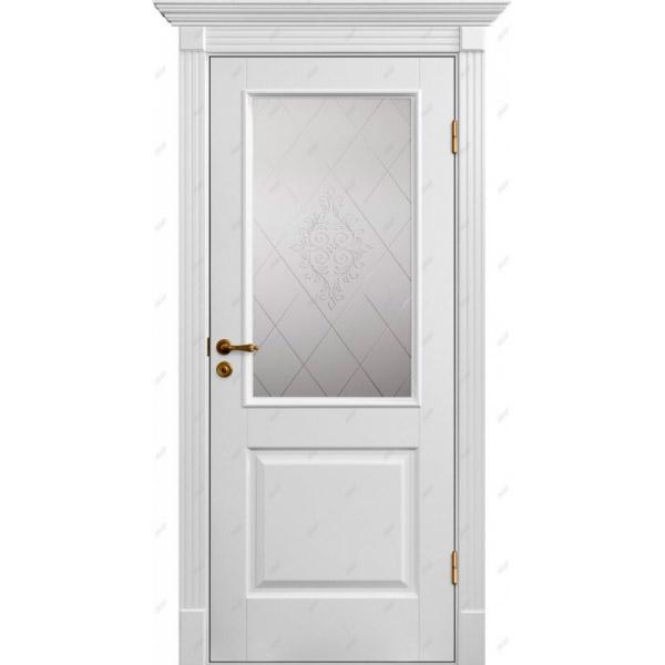 Межкомнатная дверь Коллекция Классика 4 (витраж Версаль)