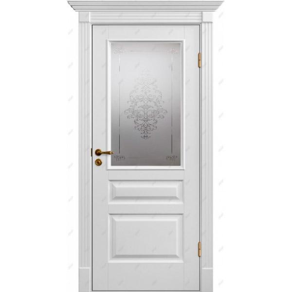 Межкомнатная дверь Коллекция Классика 8 (витраж Лувр)
