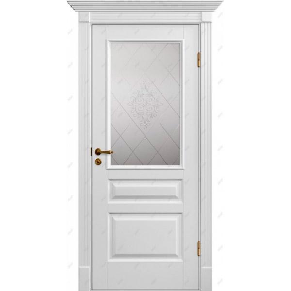Межкомнатная дверь Коллекция Классика 8 (витраж Версаль)