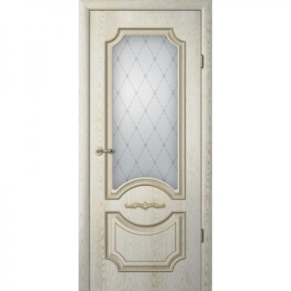 Межкомнатная дверь  Леонардо ПО с патиной