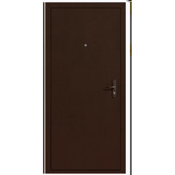 Дверь Стройгост 5-1 Металл/Металл, Медь антик