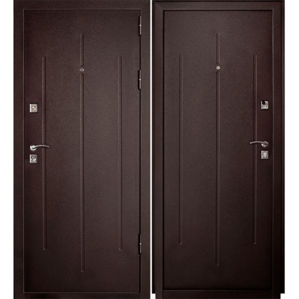 Дверь Стройгост 7-2 Металл/Металл, Медь антик