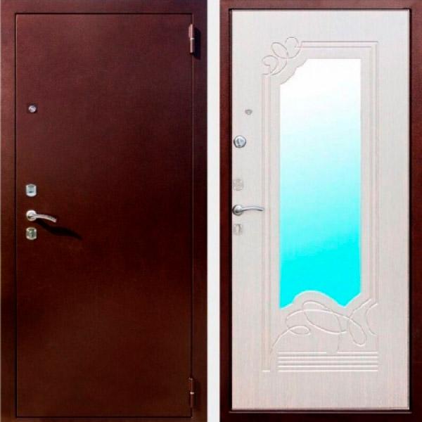 Входная металлическая дверь Ампир белый ясень