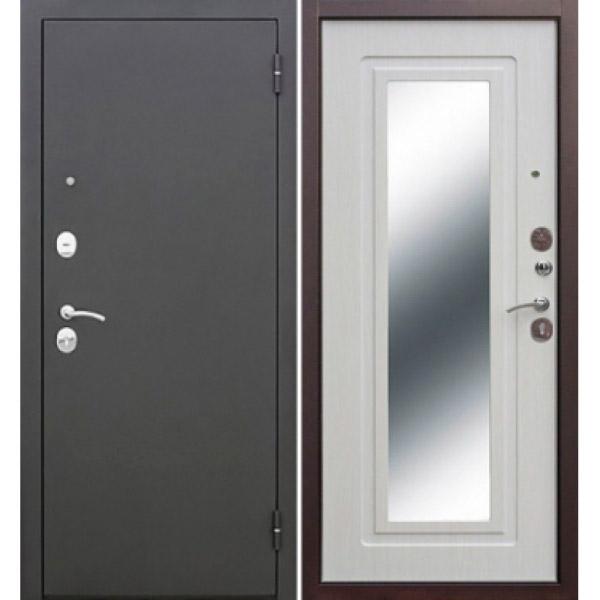 Дверь Царское зеркало муар белая