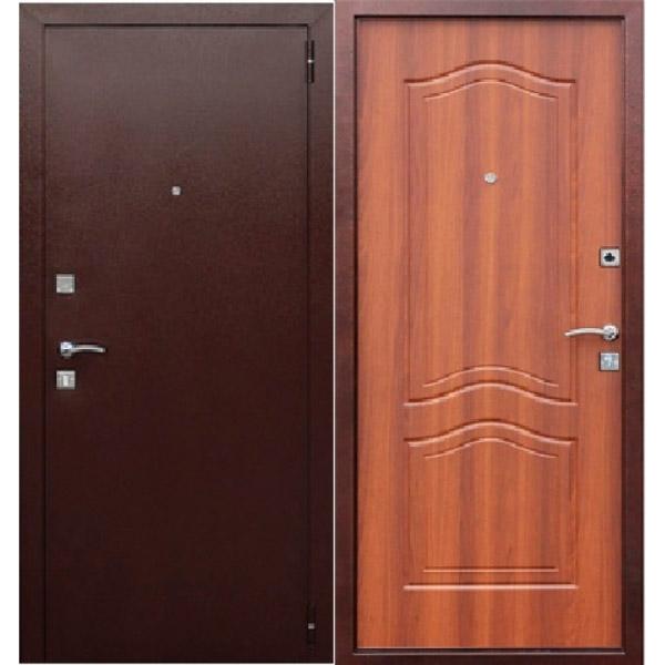 Входная металлическая дверь Доминанта рустикальный дуб
