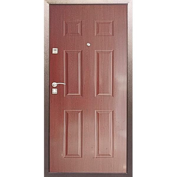Дверь входная металлическая Стал F73 Орех/Беленый дуб