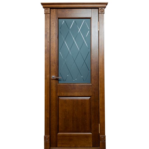 Межкомнатная дверь из массива сосны Ока Элегия