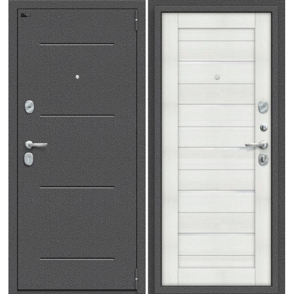 Дверь входная Porta S 104.П22 Антик Серебро/Bianco Veralinga
