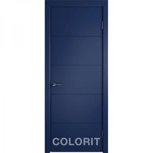 К4 COLORIT ДГ 800*2000 Синяя эмаль