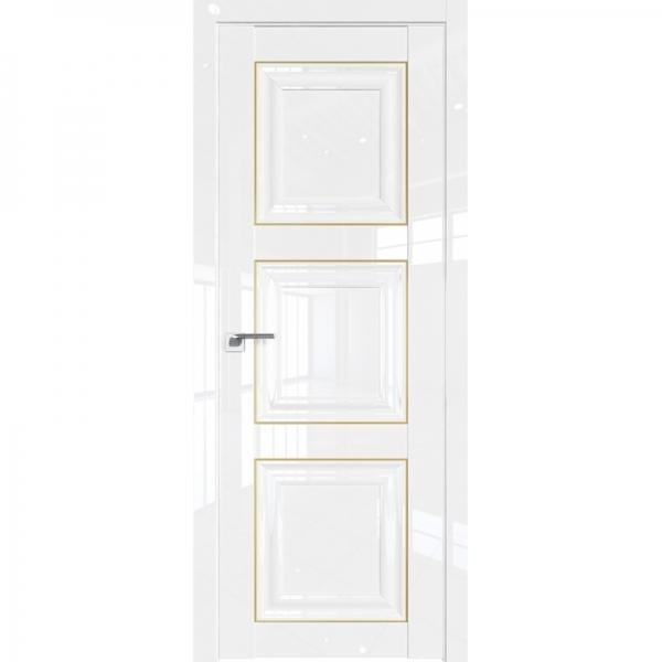 96L 800*2000 Белый люкс золото
