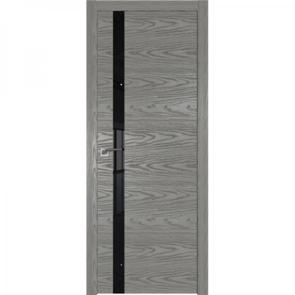 6NK (ABS) коричневый лак 800*2000 Дуб Скай Беленый кромка в цвет