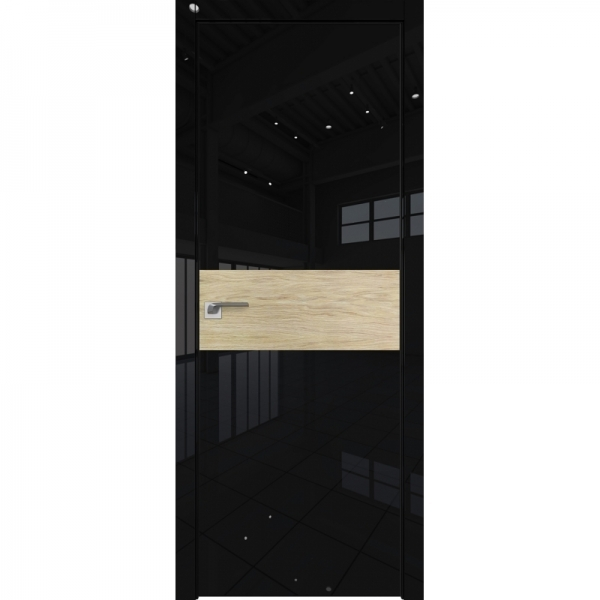 4VG 800*2000 Белый глянец матовая с 4-х сторон Светлый дуб