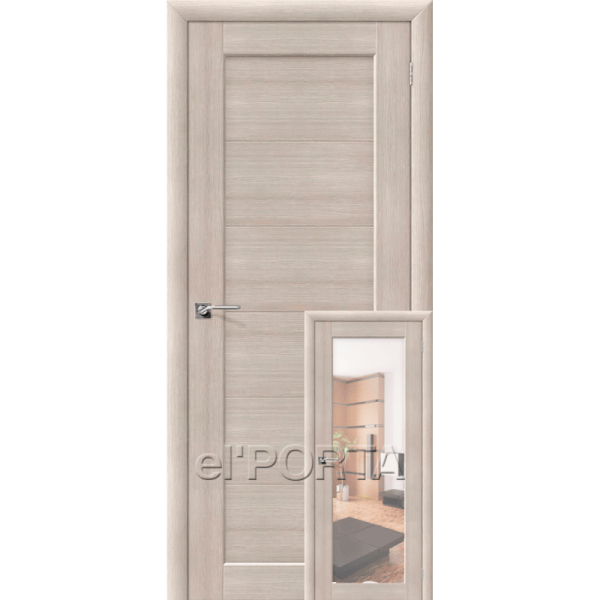 Дверь межкомнатная аква Эльпорта АКВА-1/2 Cappuccino Veralinga