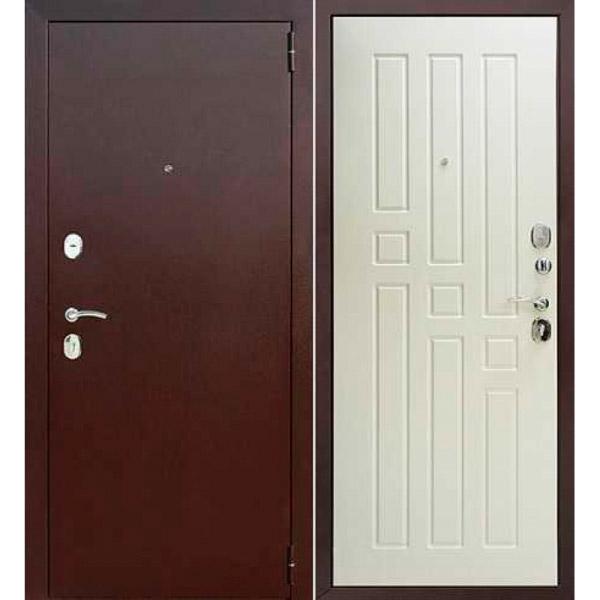 Входная металлическая дверь Гарда, белый ясень