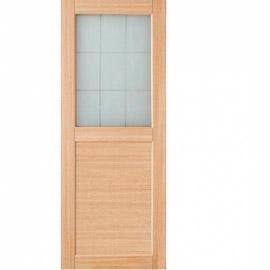 Межкомнатные двери МДФ, «Ладора» экошпон серия «КВАДРО 2/2» Дуб светлый