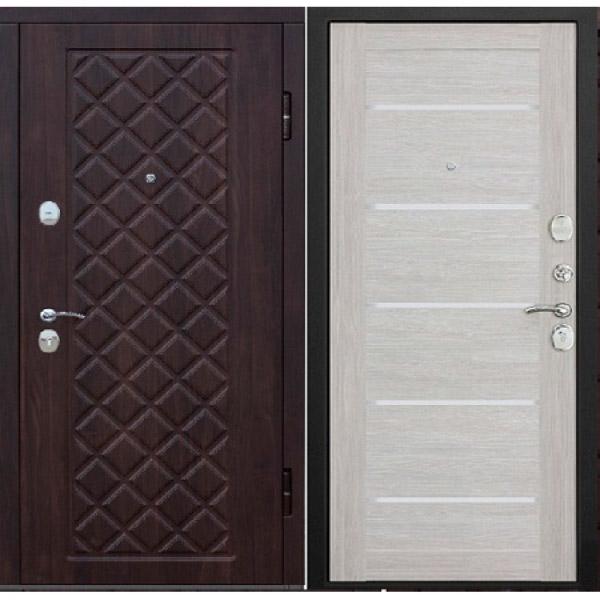 Входная металлическая дверь Камелот царга лиственница бежевая
