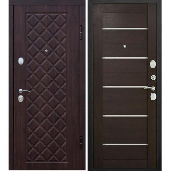 Входная металлическая дверь Камелот царга венге