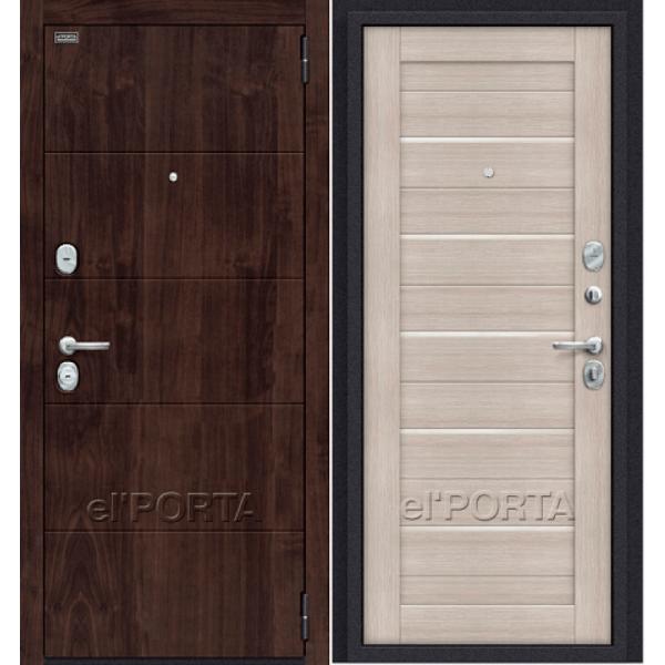 Дверь входная ПРАЙМ Wenge | Cappuccino Veralinga