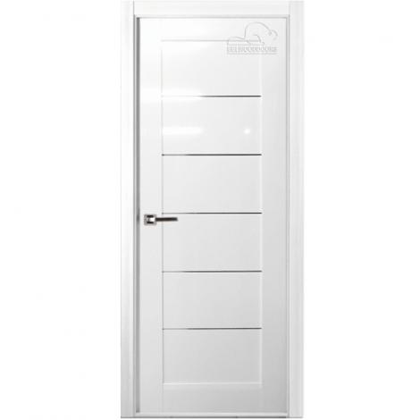 Дверь межкомнатная шпонированная Белвуддорс Мирелла ЧО Белый глянец