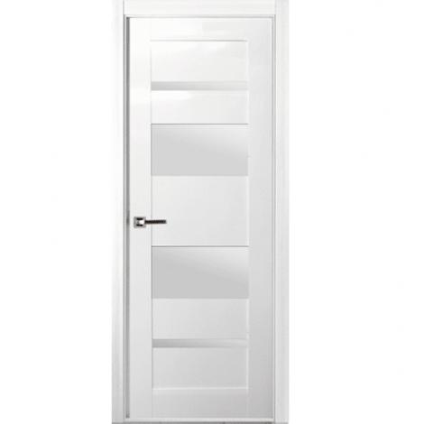 Дверь межкомнатная шпонированная Белвуддорс Мирелла ДО Белый глянец