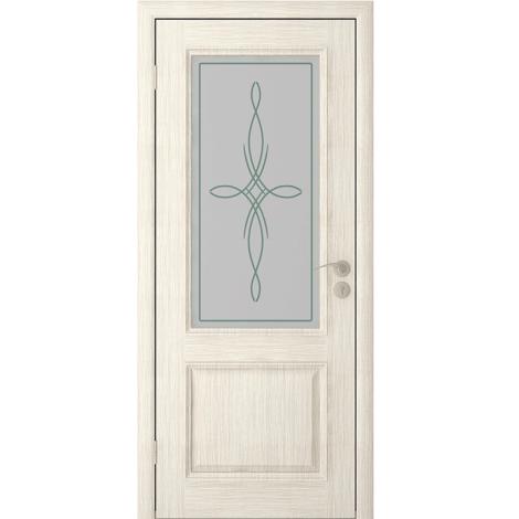 Межкомнатная дверь шпонированная Шервуд 2 ДО, Слоновая кость