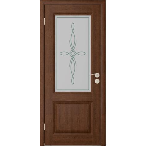 Межкомнатная дверь шпонированная Шервуд 2 ДО, Каштан