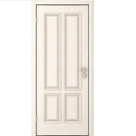 Межкомнатная дверь шпонированная Плимут ДГ Слоновая кость