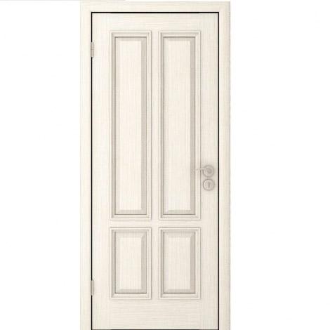 Межкомнатная дверь шпонированная Плимут ДГ Эмаль крем