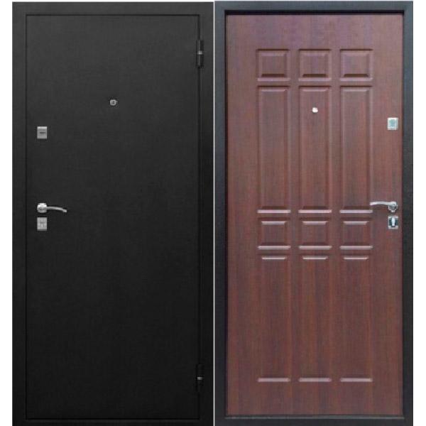 Входная металлическая дверь Сопрано дуб шоколад